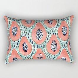 PAPAYA PARTY Tropical Fruit Print Rectangular Pillow