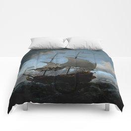 """Willem van de Velde """"The Dutch Fleet Assembling"""" Comforters"""