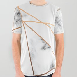 Marble Geometry 054 All Over Graphic Tee