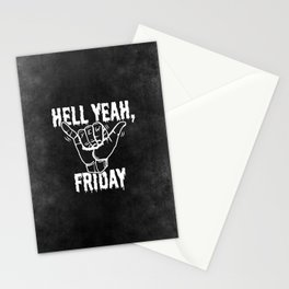 Hell Yeah, Friday Stationery Cards