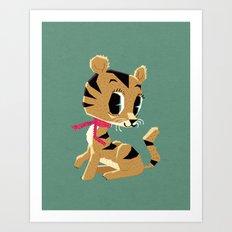 little tiger cub Art Print