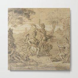 Sketch for a Tapestry circa 1660 Metal Print