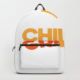 Funny Grilling New BBQ Grillin Chillin Fathers Day Gift Backpack