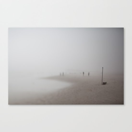Fog on the Beach, Ocean City, NJ Canvas Print