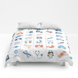 CUTE MEDICINE / SCIENCE / DOCTOR PATTERN Comforters