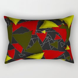 Three colored triangles Rectangular Pillow