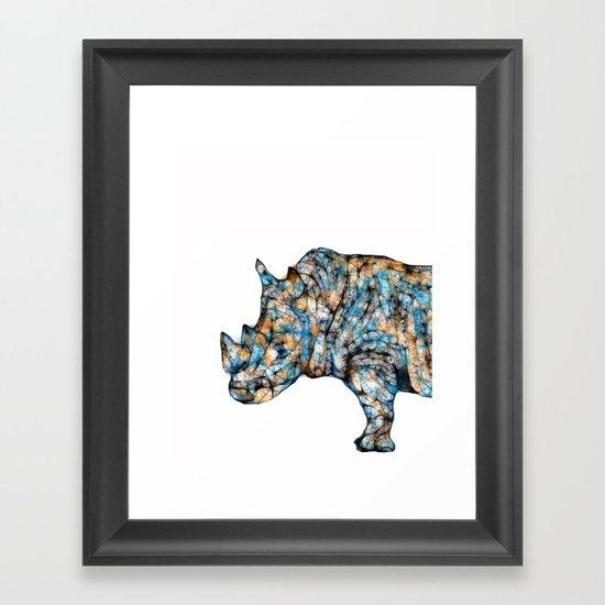 Rhino-no text Framed Art Print