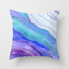 AGATE Inspired Watercolor Abstract 07 Throw Pillow