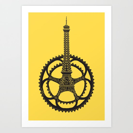 Le Tour de France Art Print