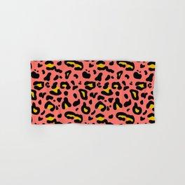 Coral & Yellow Leo Print Hand & Bath Towel