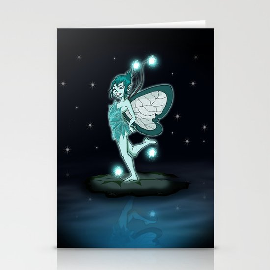 Little Night Fairy   Stationery Cards