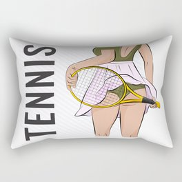 Sexy tennis Rectangular Pillow