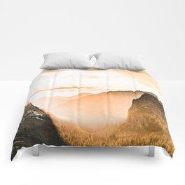 Yosemite Valley Burn - Sunrise Comforters