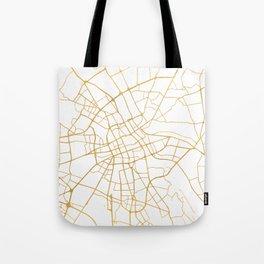 WARSAW POLAND CITY STREET MAP ART Tote Bag