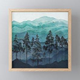 Mountains II Framed Mini Art Print