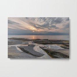 Pastel tidal pool sunset Metal Print