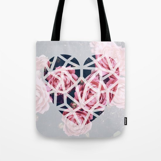 heart roses Tote Bag