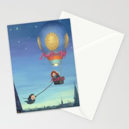 Cute Lovers Montgolfier Stationery Cards
