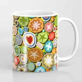 millefiori yellow Coffee Mug