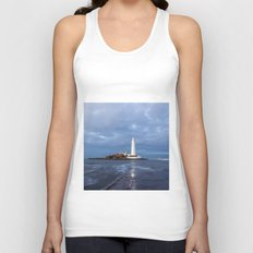 Dusk at St Mary's Lighthouse II Unisex Tank Top