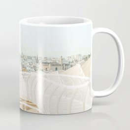 Seville X [ Andalusia, Spain ] City skyline from Metropol Parasol⎪Colorful travel photography Poster Coffee Mug