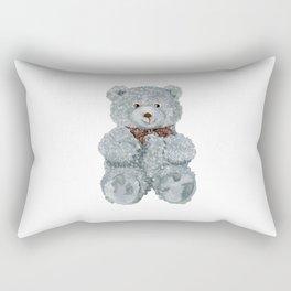 Grey bear toy Rectangular Pillow
