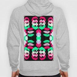 Crazy Neon Face Glitch Hoody