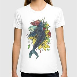 fish watercolor T-shirt
