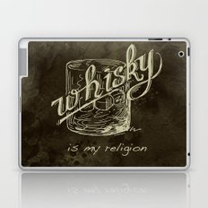 Whiskey is my religion graphic artwork. Laptop & iPad Skin