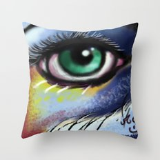Aura Of The Visual Throw Pillow