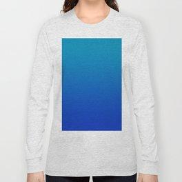 Ombre Hawaiian Ocean Blue Zaffre Gradient Motif Long Sleeve T-shirt