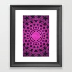 Pink circle stars Framed Art Print