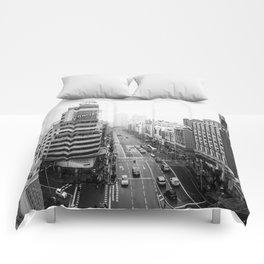 Gran Via in Madrid Comforters