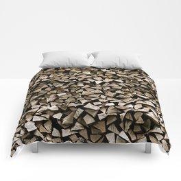 firewood pattern Comforters