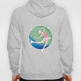 Skating Ice Skater Skating Snow Winter Season Ice-Skate Figure Skating Girl Gift Hoody