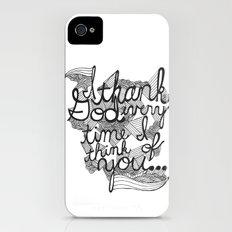Thankful Slim Case iPhone (4, 4s)
