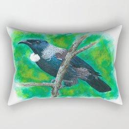 New Zealand Tui - Painting in acrylic Rectangular Pillow