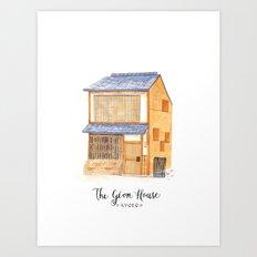 The gion house Art Print