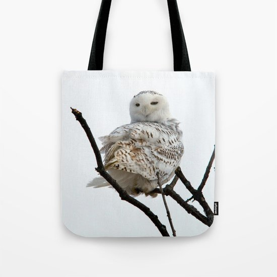 Twist and Shout (Snowy Owl) Tote Bag