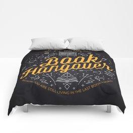 Book hangover Comforters