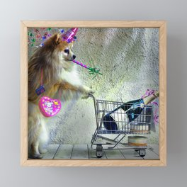 Cute Little Party Animal Framed Mini Art Print