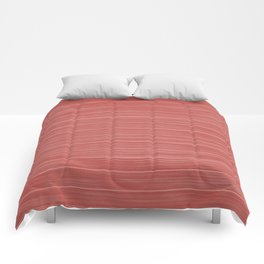 Pastel Red Whitewashed Beach House Cladding Comforters