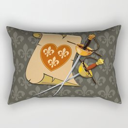 Two swords and scroll Rectangular Pillow