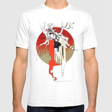 Tithe MEDIUM White Mens Fitted Tee