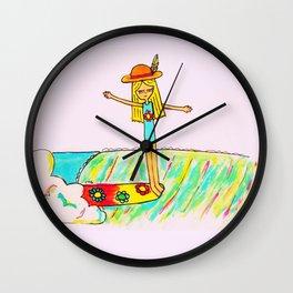Hang 10 Lady Slider Wall Clock