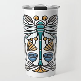 Dragonfly tile Travel Mug