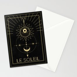 Le Soleil or The Sun Tarot Stationery Cards