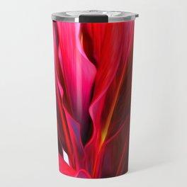 Red Ti Leaf Travel Mug