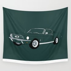 1968 Ford Mustang GT Wall Tapestry
