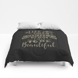 Life Beautiful Quotes Comforters